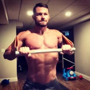 """This is what """"one set to failure"""" looks like, exploiting the heavy variable resistance made possible with the X3bar, to hyperload muscles in the strong range and finish with partial reps in the weak range under the hypoxia generated by constant tension - thereby triggering intense musclegrowth stimulus. Athlete; Bobby Forrester"""